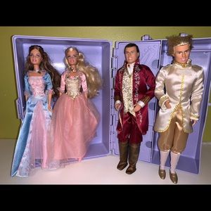 The Princess & The Pauper Doll set w/carrying case
